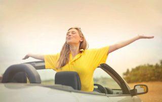 woman free of car concerns